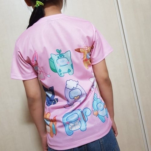 pink clothes short sleeve round neck T-shirt boy girl clothes space casual tops for girls 12 years old amoung us photo review