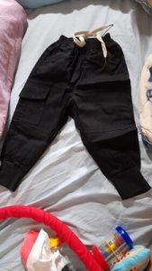 Boy pants kids autumn spring clothes solid children cargo pants for baby boys trousers size80~140 toddlers black khaqi photo review