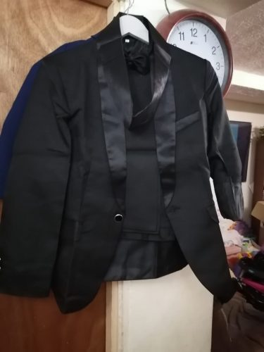 Formal Children Shawl Collar Suit Set Flower Boys Handsome Wedding Party Dress Piano Costumes Kids Blazer Pants Girdle Bowtie photo review