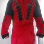 WACLZ Deadpool Kigurumi Costume Bathrobe Cosplay Flannel Adult Night Bath Robe Sleepwear Pajamas Bathing Man Plus Clothes photo review