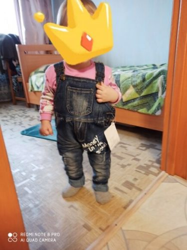 Baby Boy Jean Letter Overalls Bib Child Denim Pants Infant Jumpsuit Children's Clothing Romper Kids Jeans Spring Autumn Newborn photo review