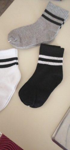 3 Pairs / lot Boys Socks Spring & Autumn Stripe High Quality Cotton Brand Student Kids Socks 3-15 Year Children Socks photo review