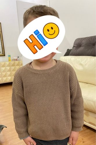 Newest Newborn Baby Girl Boy Knitted Long Sleeve Autumn Winter Sweater Solid Loose Pullover Casual Tops Kids Clothes 9M-5Y photo review