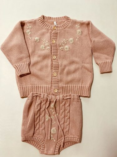 EnkeliBB Baby Winter Kniting Coat and Hat Sweaters Lovely Rainbow Pattern Kids Girls Sweaters Baby Warm Brand Clohes photo review