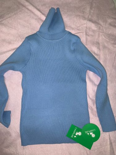 2020 Autumn Baby Boys Girls Turtleneck Sweaters Sweater Kids Sweaters For Winter Knitted Bottoming Boys Sweaters Vetement Enfant photo review