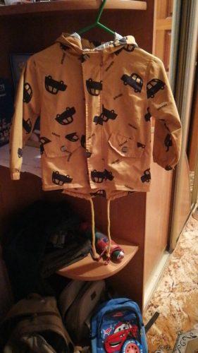 70-120cm 2020 Autumn Winter Jacket Boys Girls Kids Outerwear Cute Car Windbreaker Coats Print Canvas Baby Children Clothing photo review