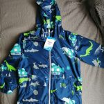 Waterproof Boys Jackets 2021 Spring Autumn Fashion Kids Boy Outerwear Dinosaur Windproof Hooded Jackets For Children's Coats photo review