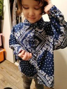 MILANCEL 2021 Spring New Kids Clothes Turn Down Collar Boys Shirts Casual Print Girls Blouse photo review