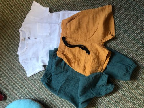 New 2-7y 2018 Summer Solid Color Linen Pleated Children Ankle-length Pants for Baby Boys Pants Harem Pants for Kids Child photo review