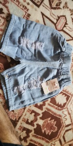 Baby Boy Shorts Jeans 2021 Summer Boys Printing Denim Cotton Casual Kids Short Pants For Children Trousers 2-8Years Clothing photo review
