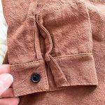 Fashion Autumn Children Shirts Cotton Linen Shirt Boy Loose Casual Solid Thicken Long Sleeve Shirt Kids Tops Girl Warm Clothes photo review