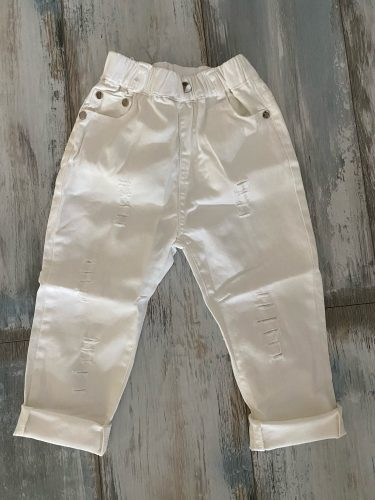 Boys Trousers Chorus Clothing Pure White/Black Students Recital Contest Straight Pants Boys Comfortable Latin Dance Trousers photo review