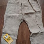 Kids Pants Boy Girl Summer Solid Color Linen Pleated Trousers Children Ankle-length Pants for Baby Boys Pants Casual Harem Pants photo review