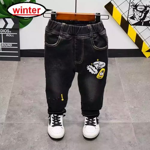 Children Pants Winter Boys Thickened Jeans Spring Baby Boys Casual Trousers Fashion Children Clothing Jeans Boys Kids Pants photo review