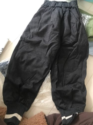Winter 2020 boys casual warm lining harem pants pure cotton soft all-match sports pants 1-6Y photo review