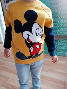 Boy's Cotton Sweater Children's Pullover Knitting Shirt Boy's Round Neck Sweater Double Layer 2020 New Style Cartoon Sweater photo review