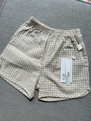 Korean Style Toddlers Kids Clothes 2021 Summer Baby Boys Loose Shorts Plaid Striped Children Pants photo review