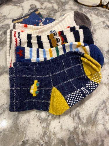 6 Pairs/lot 0 to 5 Yrs Four Seasons Sock For Boys Girl Toddlers Infants Non Skid Floor Socks Cotton Unisex Children's White Sock photo review