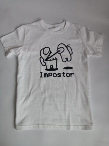 2021 boys t shirt New Game Among Us Impostor T Shirt Children Summer Tops Cartoon T-shirt Fashion Harajuku Anime Graphic Tees photo review