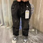 Chumhey 0-6T Spring Autumn Baby Girls Boys Child Jeans Pants Enfant Stretchy Denim Trousers Toddler Clothing 1 2 3 4 5 6 photo review
