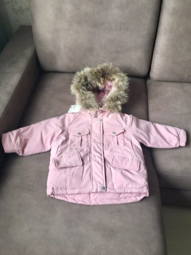 2pcs Set Baby Girl winter down jacket and jumpsuit for children Thicken Warm fur collar jacket for girls Infant snowsuit 0-4Year photo review