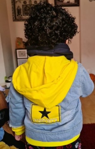 Boy girl Denim Jackets kids jeans coat Children splice Outerwear clothing Spring Autumn boy hooded sport Clothes For 1-6T kids photo review