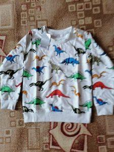 SAILEROAD Cartoon Dinosaur Boys Sweatshirts for Little Kids Hoodies Clothes 2-7Years Autumn Children Long Sleeve Shirts Cotton photo review
