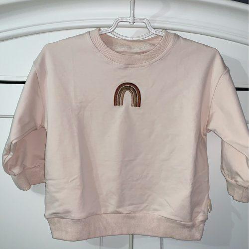 MILANCEL kids hoodies classic o-neck girls sweatshirt rainbow embroidery hoodies for boys photo review