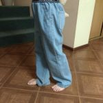Teenage Girls Jeans 2021 Spring Summer Casual Fashion Loose Blue Kids Leg Wide Pants School Children Trousers 6 8 10 12 Year photo review