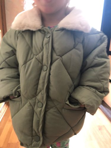 2021 New Winter Children's Warm Cotton Jackets Girls Clothes Kids&Babys Rabbit Fur Collar Coats Korean Style For Boys Outerwears photo review