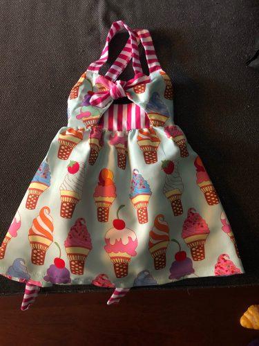 Toddler Kids Baby Girls Summer Sleeveless Ice Cream Print Strap Tutu Dress Sundress Clothes Summer photo review