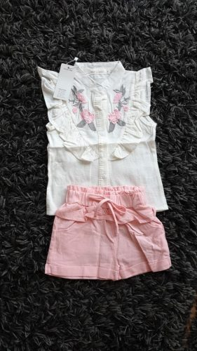 Bear Leader Girls Clothes Set 2021 Summer Children Clothing Short Sleeve T-shirt and Print Shorts 2 Pcs Girl Kids Clothes Suit photo review
