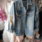 1-12Yrs Baby Girls Hole Denim Jackets Coats Fashion Children Outwear Coat Sequins Little Girl Design Girls Kids Denim Jacket photo review