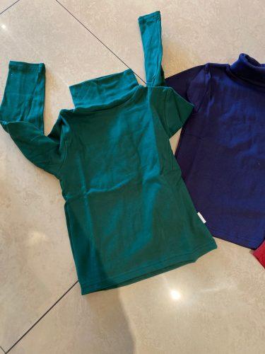 New 2020 Autumn Winter Boys Girls Kids Fashion Solid T Shirt Tops Children O-neck Long Sleeve Warm Casual T-shirts Sweatshirt photo review