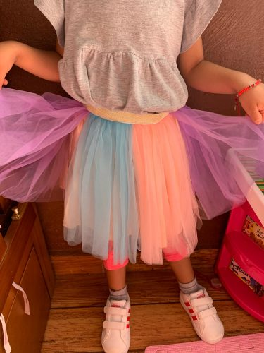 Girls Skirts Baby Ballet Dance Rainbow Tutu Toddler Star Glitter Printed Ball Gown Party Clothes Kids Skirt Children Clothes photo review