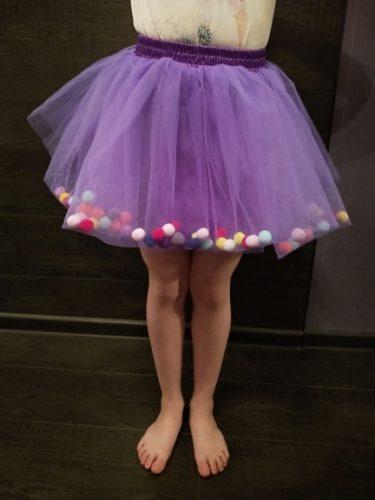 2020 New Arrival Infant Mulity Colorful Tulle Tutu Skirt Pom Pom Princess Mini Dress Children Clothing Pettiskirt Girl Clothes photo review