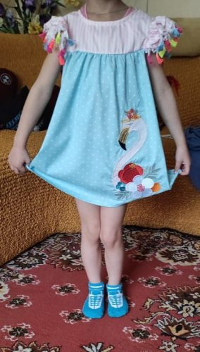 1-6 Years Summer Baby Girl Flamingo Print Striped Baby Girls Dress Kids Animals Casual Dress Toddler Sundres Clothes photo review