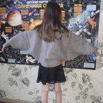 2021 Autumn Children's Clothes Girls Knitted Sweaters Solid Thin Girl Bat Sweaters For Girls Big Kids Pullovers Sweater photo review