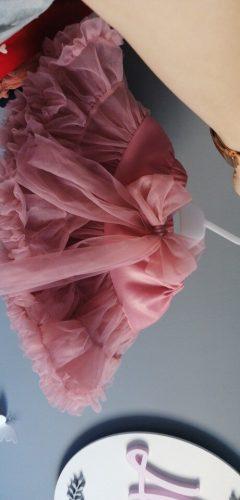 DE PEACH New Lace Bow Baby Girls Tutu Skirt Fluffy Children Ballet Pettiskirt Kids Toddler Princess Tulle Party Dance Skirts photo review