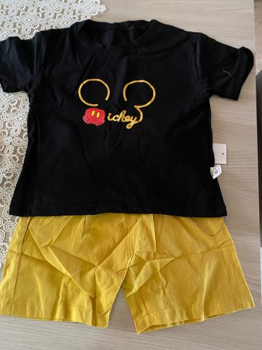 Baby Boy Girl Summer Sets Cotton Infant Children Clothes Cartoon Print Costume for Kids 1 2 3 4 Years Short Outfits 2 Pieces photo review