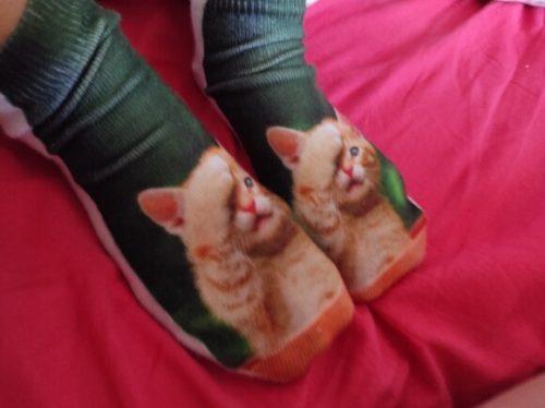Hot Selling 3D Printing Children Socks Cat Design Fashion Unisex Christmas Gift Socks Low Ankle Funny Sock for 6-12T Kids photo review