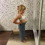 Girls Wide-legged Jeans Spring And Autumn Children Loose Straight Soft Denim Pants Chubby Kid High Waist Jeans photo review