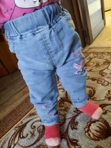Spring Baby Girls Jeans Kids Clothes Cotton Loose Comfortable Long Denim Pants Elasticated Waist Casual Jeans For Girls 3-7Y photo review