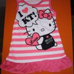 Summer Baby Girls Striped Sleeveless Dress Cotton Cartoon Dress For Baby Girls Child Clothing photo review