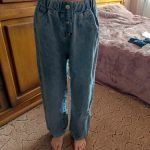 Girls Jeans 2021 Spring New Loose Straight Wide-leg Pants Fashion Kids Tassel Trousers Jeans for Girls Outfits 10 12 13 14 Years photo review