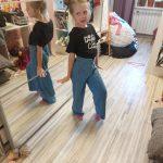 Spring Autumn Girls Jeans Baby Denim Pants Kids Wide Leg Trousers Children Bottoms Streetwear High Waist Bud Buttons 3 To 14 Yrs photo review