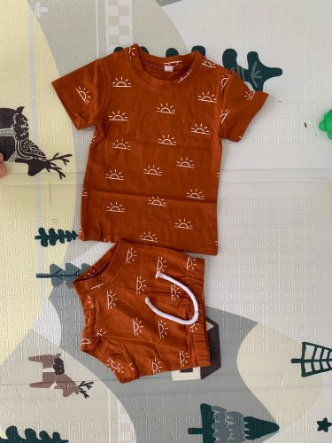 0-3Years Newborn Baby Boys Girls Summer Casual Outfits Sun Print O-neck T-shirts Shorts Pants Children Holiday Cotton Clothing photo review