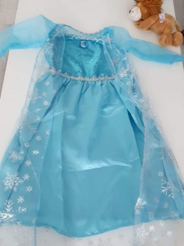 New Blue Baby Girls Kids Frozen Costume Dress Snow Princess Queen Dress Up Children's Party Gown Cosplay Tulle Dress 3-8 Years photo review