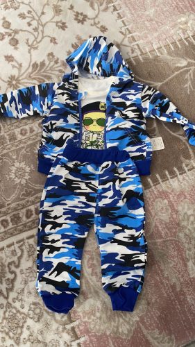 Baby Boys Spring Fall Print Set 0-1 2 3-4 year-old Boy Handsome Autumn Winter Clothes Three-piece Children's Clothes Fashion photo review