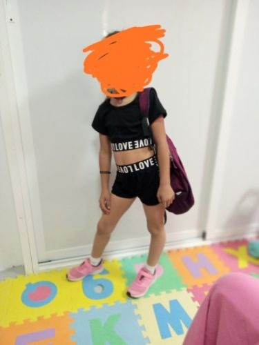 New Girl Kid Child Black Clothing Sets Short Sleeve Letter Crop Top T shirt Shorts Clothes Summer Casual Sunsuit Outfit photo review